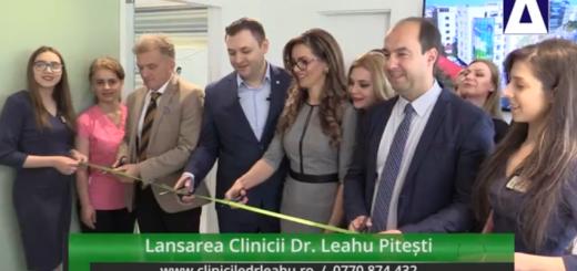 In Arena - Lansarea Clinicii Dr. Leahu Pitesti