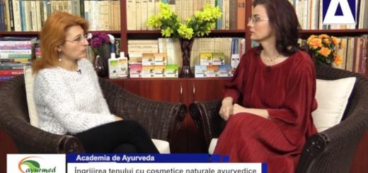 ACC - AA - Ingrijirea tenului cu cosmetice naturale ayurvedice - Ayurmed - Realizator Cecilia Caragea