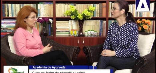 ACC - AA - Cum ne ferim de raceala si gripa - Ayurmed - Realizator Cecilia Caragea