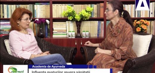ACC - AA - Influenta gusturilor asupra sanatatii - Ayurmed - Realizator Cecilia Caragea