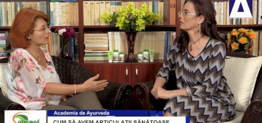 ACC - AA - Cum sa avem articulatii sanatoase - Ayurmed - Realizator Cecilia Caragea
