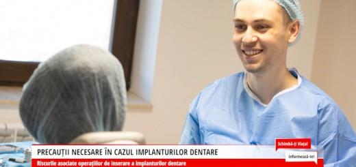 SVI - Precautii necesare in cazul implanturilor dentare - Dr. Corrado Cazacu - Arena Communications